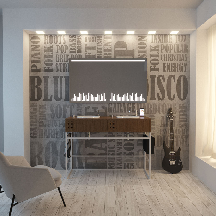 Vinyl bathroom collection, Olympia ceramica, by Gianluca Paludi