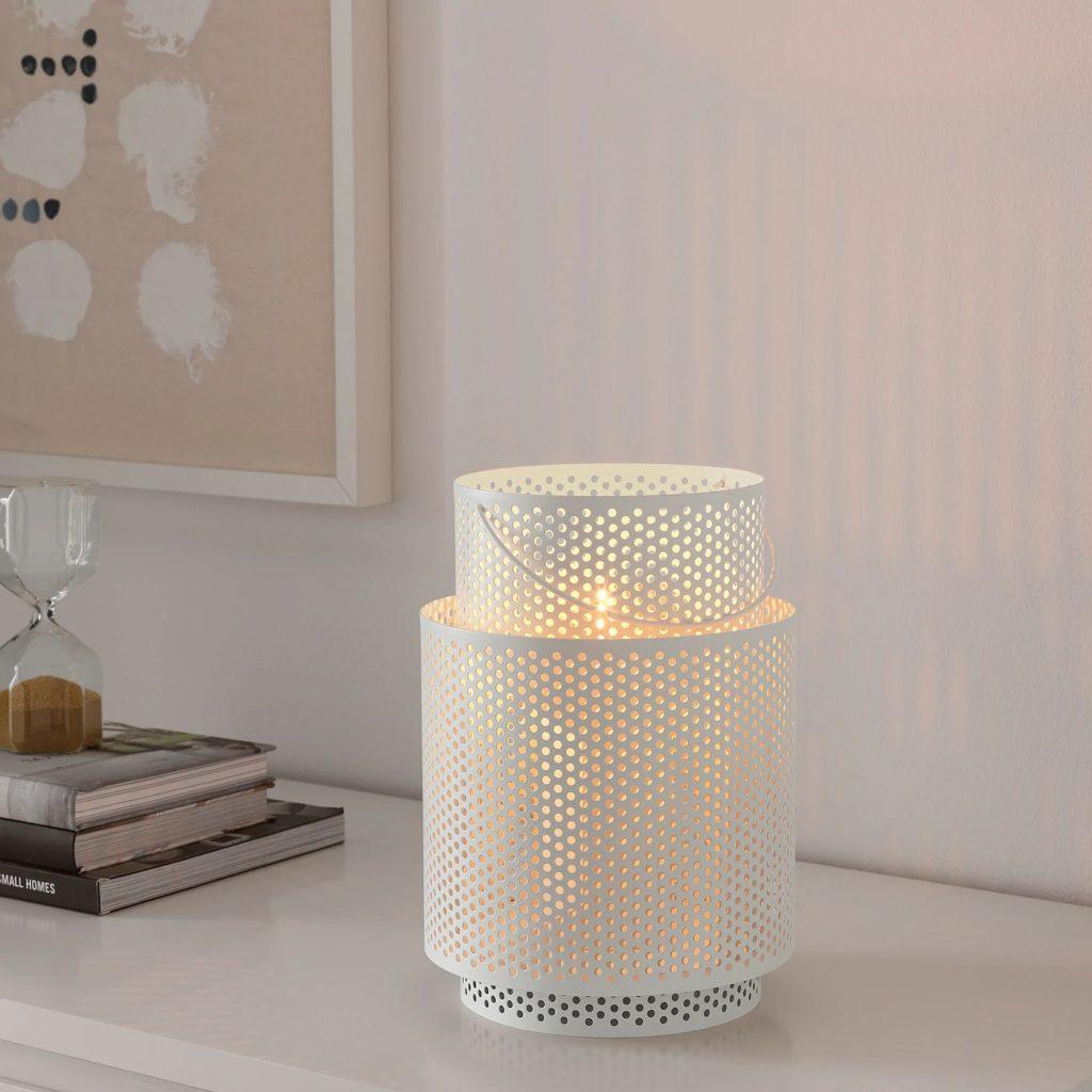 Behärska, lykta för blockljus, upplyst, från IKEA